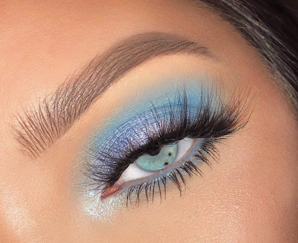 blue makeup looks