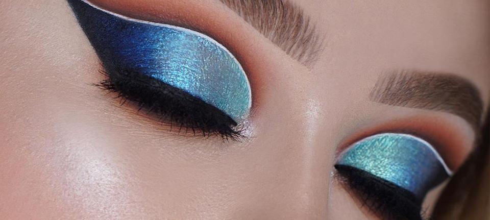 ocean eye makeup look